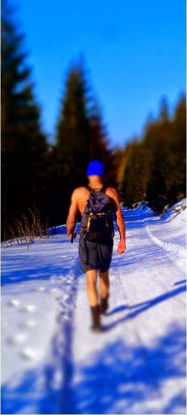 dedhillfaktor - lopen in de sneeuw